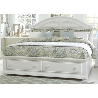 Summer House Oyster White Cottage Storage Bed|https://ak1.ostkcdn.com/images/products/12027319/P18901077.jpg?impolicy=medium