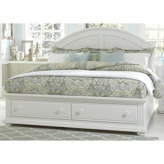 Summer House Oyster White Cottage Storage Bed