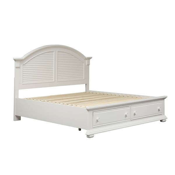 Summer House Oyster White Cottage Storage Bed On Sale Overstock 12027319 Queen