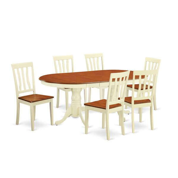Shop Cream/Cherry Solid Rubberwood 7-Piece Dining Set With