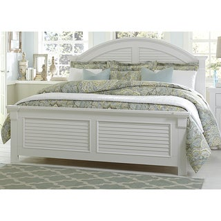Summer House Oyster White Cottage Panel Bed