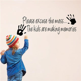 Kids Making a Mess 10-inch x 14-inch Removable Wall Graphic