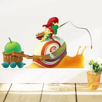 HomeSource 'Little World Snail Speed' Removable Wall Decal