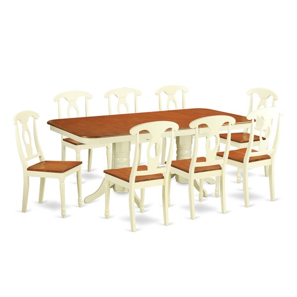 9 Piece Dining Table Set For 8 Dining Room Table With 8: Shop NAKE9-WHI Cream/Cherry Rubberwood 9-piece Napoleon