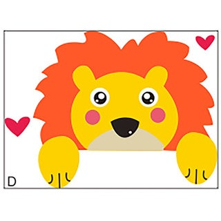 HomeSource Lion Switch Multicolor 3-inch x 4-inch Removable Wall Graphic