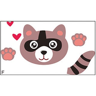 Racoon Switch 2 inch x 4 inch Removable Wall Graphic