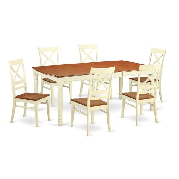 Cream Dining Set: Shop Cream-colored White Rubberwood 7-piece Dining Room