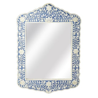 Butler Blue and White Bone Inlay Wall Mirror