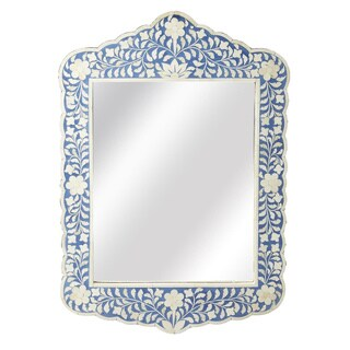 Butler Vivienne Blue Bone Inlay Free Form Wall Mirror