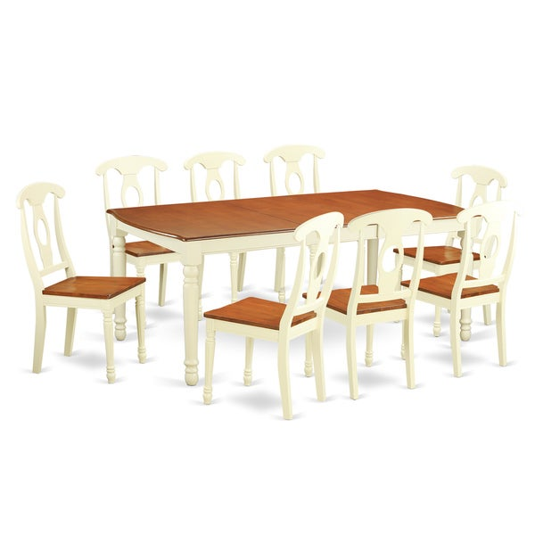 9 Piece Dining Table Set For 8 Dining Room Table With 8: Shop DOKE9-WHI Cream/Cherry Rubberwood 9-piece Dining Room