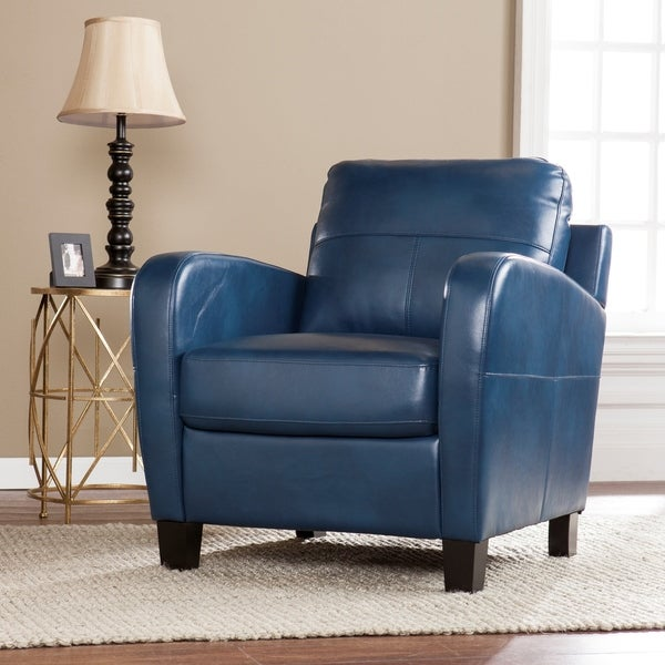 Shop Bronson Royal Blue Faux Leather Lounge Chair ...