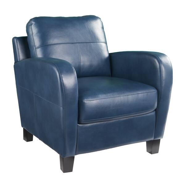 Astounding Shop Harper Blvd Bronson Royal Blue Faux Leather Lounge Pdpeps Interior Chair Design Pdpepsorg