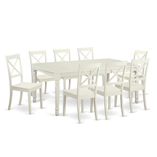 DOBO9-LWH-W White 9-piece Dinette Set