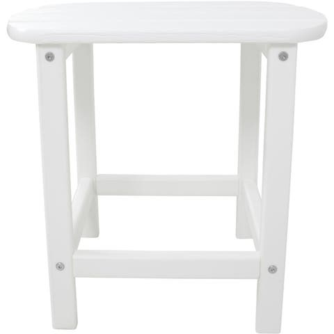 Hanover Outdoor White MDF 15-inch x 19-inch x 18-inch All-weather Side Table