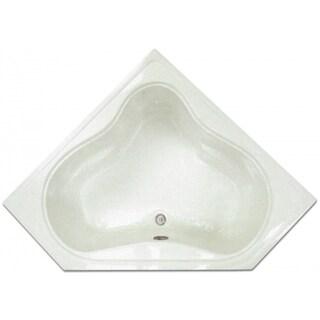 Signature Bath 53.75-inch x 22.75-inch x 17.5-inch Corner Drop-in Bath - White