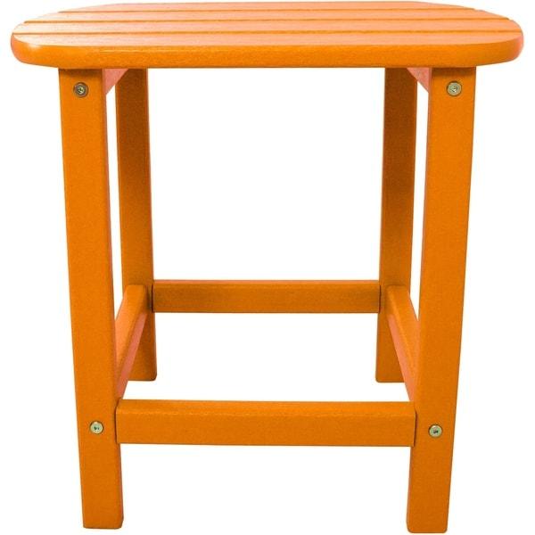 Hanover Outdoor HVSBT18TA Tangerine All-weather Side Table