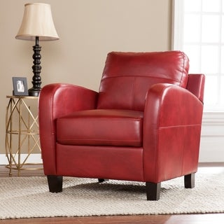 Harper Blvd Bronson Red Faux Leather Lounge Chair