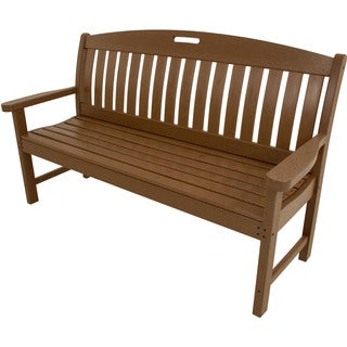 Hanover Avalon Brown HDPE All-weather Outdoor Porch Bench