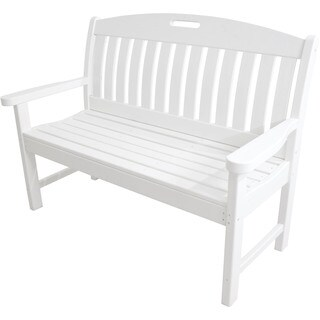 Hanover Outdoor HVNB48WH Avalon White 48-inch All-weather Porch Bench