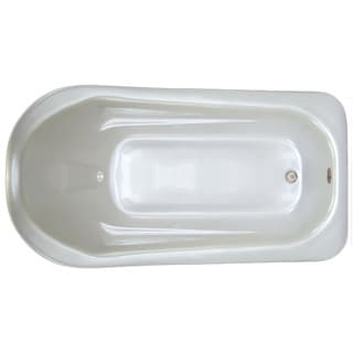 Signature Bath White Acrylic 72-inch x 36-inch x 18-inch Drop Bath