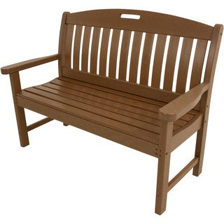 Hanover Outdoor Avalon Brown All-weather 48-inch Porch Bench