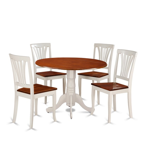 5 piece Dining Set with Kitchen Table and 4 Kitchen Chairs