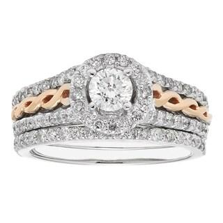 Sofia14K Gold Diamond 2-piece Bridal Ring