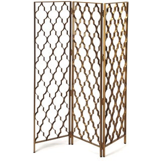 Butler Vala 51-inch x 1-inch x 67-inch Gold Iron Screen