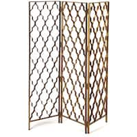 Butler Vala Antique Gold Screen Divider