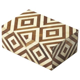 Butler Maya Wood and Bone Inlay Storage Box