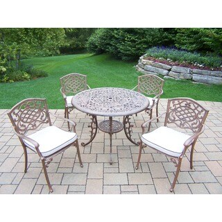 Maison Rouge Indran 5-piece Dining Set with Round Table and Stackable Arm Chairs