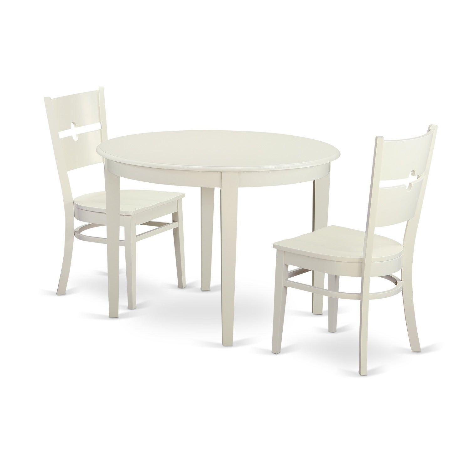 3-piece Small Kitchen Table Set with Dining Table and 2 Dinette ...