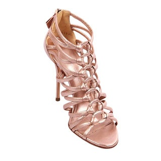 Casadei Women's Pink Leather Heeled Sandals