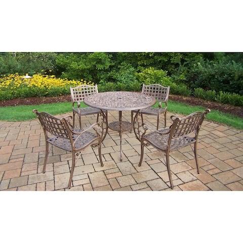 Bronze Cast Aluminum 5-piece Weather Resistant Dining Set