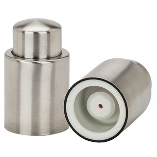 VinoNinja Silver Stainless Steel Vacuum Wine Sealer and Stopper