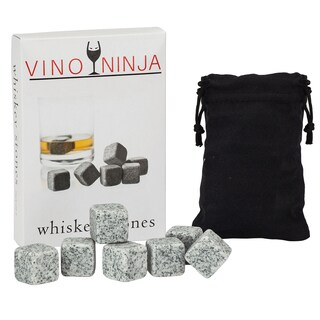 VinoNinja Grey Granite Whiskey and Drink Chilling Stones