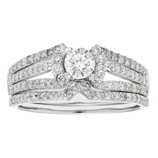 Sofia 14k Gold 1-carat 79 Diamonds Bridal Ring Set