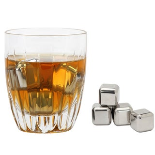 VinoNinja Silver Stainless Steel Chilling Ice Cubes