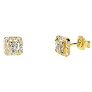 Pori 18k Gold-plated Sterling Silver Square Stud Earrings