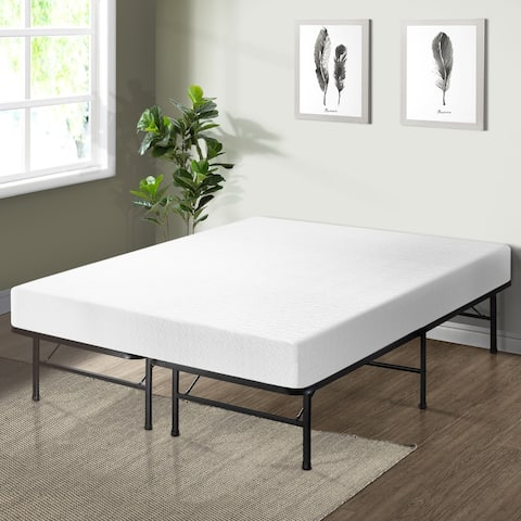 Crown Comfort 8-inch Memory Foam Mattress with Bed Frame Set