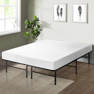 Crown Comfort 8-inch Queen-size Bed Frame and Memory Foam Mattress Set