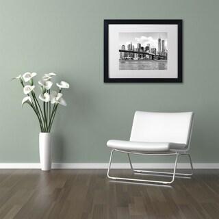 Philippe Hugonnard 'View of Manhattan' Matted Framed Art