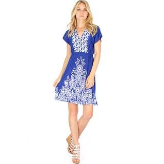 Lyss Loo Women's V-Neck Shift Dress