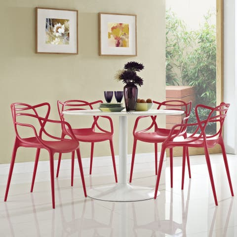 Entangled Plastic 4-piece Chair Set