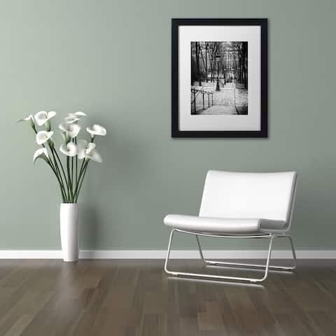 Philippe Hugonnard 'Staircase Montmartre' Matted Framed Art - Multi