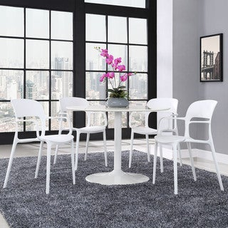 Hop White Plastic 4-piece Dining Set