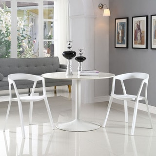 Tread White Plastic Dining Chairs (Set of 2)