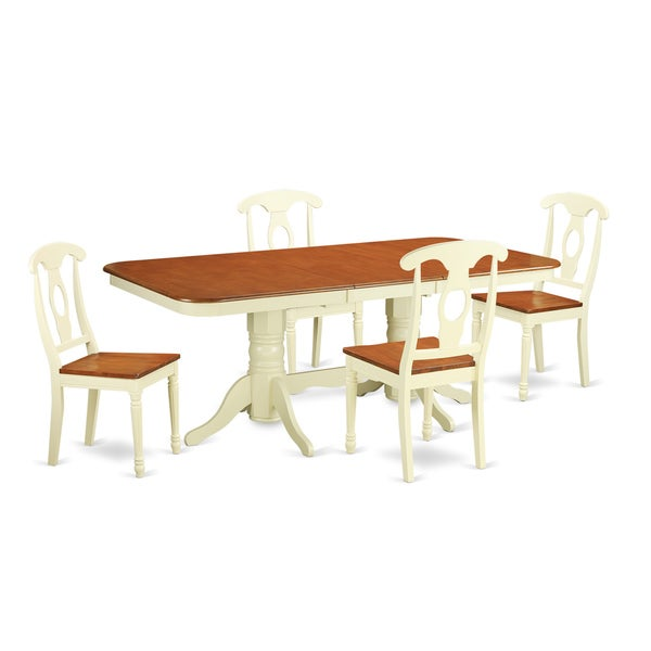 Rubberwood Kitchen Table And Two Chairs