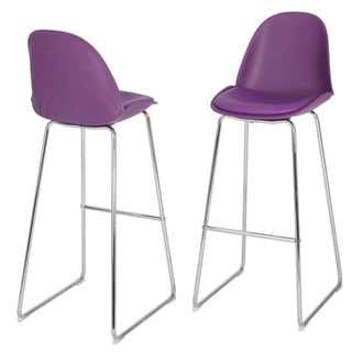 Lorraine Faux Leather Barstool (Set of 2) by Christopher Knight Home