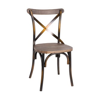 Zaire Walnut Finish Copper Dining Chair